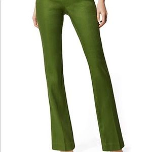 New York and company green linen boot cut pant